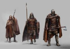 Norwegian Viking Warriors | Viking warriors illustrated by Norwegian concept artist Stian ...