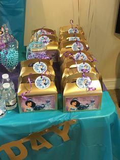 Princess Jasmine favor boxes