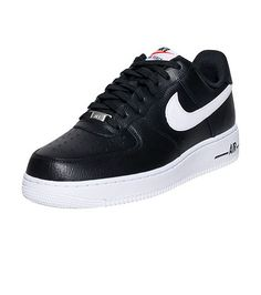 best sneakers a9dd1 f4c09 NIKE Air Force One Low top,Lace front sneaker Padded tongue with logo  Leather material