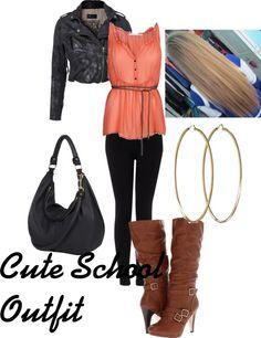 """Cute School Outfit"" by addisonstyhorpaylinsalik ❤ liked on Polyvore"
