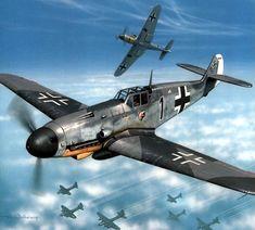 Messerschmitt Bf 109 lieutenant Heinz Knoke, Germany, May 1943 Ww2 Aircraft, Fighter Aircraft, Military Aircraft, Ww2 Fighter Planes, Luftwaffe, Air Fighter, Fighter Jets, Photo Avion, Aircraft Painting