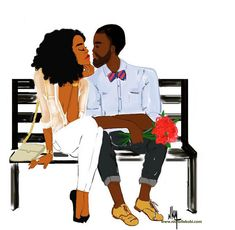 Black love is beautiful Black Couple Art, Black Love Art, Black Girl Art, Black Couples, Black Is Beautiful, Black Girl Magic, Black Girls, Art Girl, Natural Hair Art