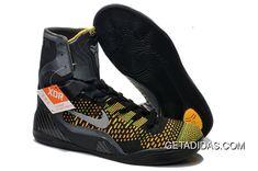 "Nike Kobe 9 Elite High Black/Anthracite and Metallic Silver Mens Training Shoes - ""Inspiration"" Kobe Bryant Shoes, Kobe Shoes, New Jordans Shoes, Air Jordan Shoes, Nike Kids Shoes, Nike Shox Shoes, Pumas Shoes, Adidas Shoes, Nike Kobe"