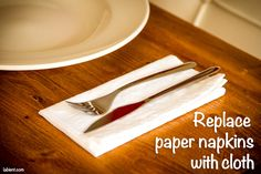 Cloth dinner napkin on a table