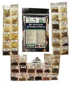 40 Variety Fresh Vegetable /& Fruit Seeds Emergency Survival Kit Garden Food