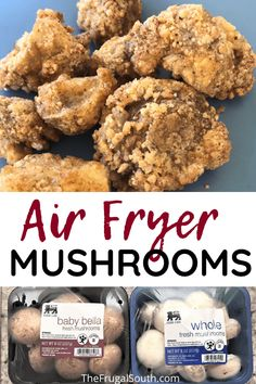 These air fryer mushrooms are the best easy appetizer! How to make crispy fried mushrooms in your air fryer. Healthy fried mushrooms with less oil than deep frying.