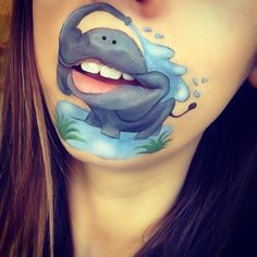 Artist Turns Her Lips Into Cute Cartoon Characters Makeup Artist Turns Her Lips Into Cute Cartoon Characters.Makeup Artist Turns Her Lips Into Cute Cartoon Characters. Lipstick Designs, Lip Designs, Makeup Designs, Lip Art, Maquillage Halloween, Halloween Makeup, Crazy Lipstick, Lilo Und Stitch, Cute Cartoon Characters