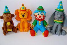 Edible Fondant Cake Toppers - Circus