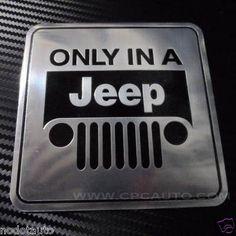 Car Badge Emblem Sticker Aluminum Jeep Fuel Petrol Tank Gas Cap Badge | eBay Jeep Stickers, Car Badges, Jeep Stuff, Room Ideas, Cap, Baseball Hat