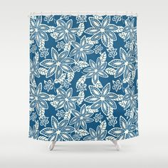 #society6 #showercurtain #navy #floral #pattern