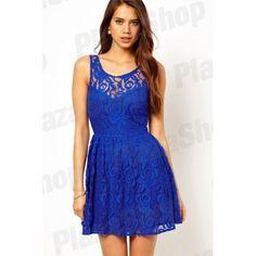 Vestido Louisiana de Renda (azul) RD348