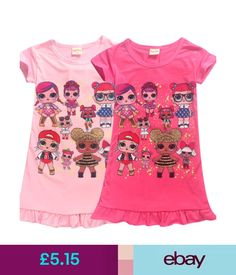 Girls  Clothing (Sizes 4   Up) Girls Kids L.L Lol Surprise Doll Dress  Cartoon Short Sleeve Summer Party Dress e7be30f33