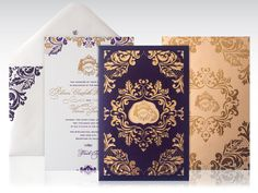 New Year's Eve laser cut Wedding Invitation by Atelier Isabey , via Behance