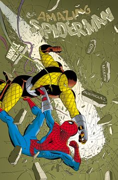 Amazing Spider-man #579 Cover (2008). Art by Marcos Martin.