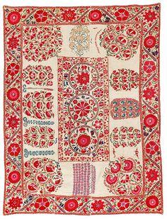 Nurata suzani, Uzbekistan, first half 19th century.