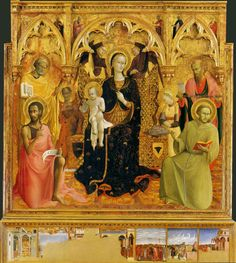 (Stefano di Giovanni),The Virgin and Child with Saints,Madonna and Child. Italian Renaissance, Renaissance Art, Florence, Renaissance Paintings, Classic Paintings, Madonna And Child, John The Baptist, Italian Art, Medieval Art