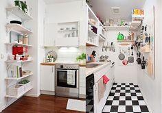 prateleiras para cozinha americana pequena - Pesquisa Google