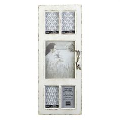 <div>Charming collage frame looks like a vintage window with five glass panes! You'll love the w...