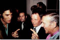 Elvis Presley, Joe Esposito, Frank Sinatra and Fred Astaire