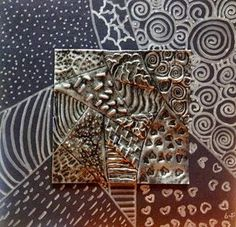 SINKING SPRINGS ART: TEXTURE - Metal Repoussé - 6th Grade