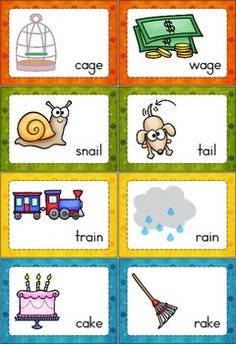 Rhyme Time - Set 140 cards that focus on long vowels, r-controlled vowels, diphthongs and vowel variants. Comes with a response sheet. Great word work activity for children in kindergarten and first grade. Rhyming Words For Kids, Rhyming Preschool, Rhyming Activities, Word Work Activities, Preschool Learning, Kindergarten Worksheets, In Kindergarten, Preschool Activities, Free Preschool