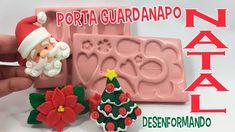 DIY - Porta guardanapos de Natal em BISCUIT - DESENFORMANDO ( Molde Pris...