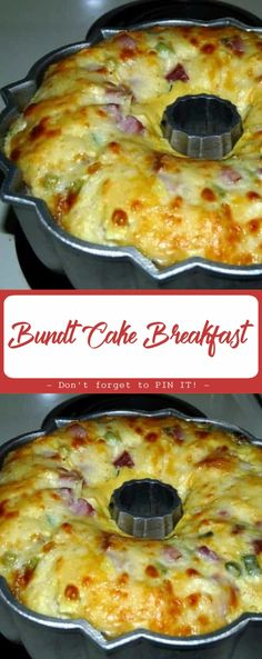 This Bundt Cake Breakfast recipe is perfect for brunch. Ham, tater tots and cheese are baked into a scrumptious slices of deliciousness. This BUNDT CAKE BREAKFAST from my grandmother recipes book seemed like it would Breakfast Items, Breakfast Dishes, Savory Breakfast, Breakfast Ideas With Eggs, Healthy Breakfast Casserole, Blueberry Breakfast, How To Make Breakfast, Best Breakfast, Frozen Breakfast