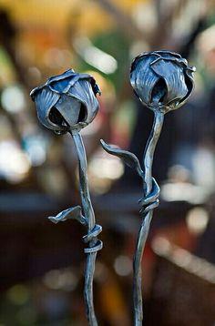 Fleurs métal