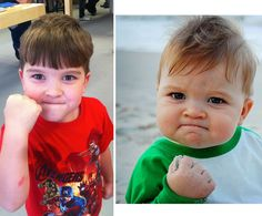 """""""Success Kid"""" 5 years later. I use this picture all the time to wish people luck :)"""