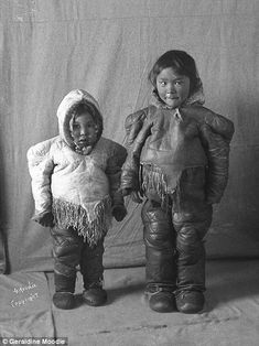 Geraldine Moodie took photographs of local Inuit people when herself and her husband moved to the north west in 1903