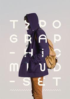 タイポグラフィがかっこいいポスター。こういうのいいよね。(via TYPOGRAPHIC MINDSET)