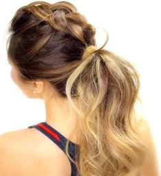 40 Brilliant Braided Mohawk Hairstyles — Dare to Try! Braided Mohawk Hairstyles, No Heat Hairstyles, Braided Ponytail, Cool Hairstyles, Mohawk Braid, Sporty Ponytail, Humidity Hairstyles, Ponytail Haircut, Summer Ponytail
