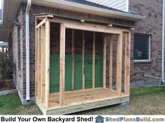 Every thought about how to house those extra items and de-clutter the garden? Building a shed is a popular solution for creating storage space outside the house. Whether you are thinking about having a go and building a shed yourself Wood Storage Sheds, Wood Shed, Storage Shed Plans, Lean To Shed Plans, Free Shed Plans, Sorrento, Prefabricated Sheds, Shed Construction, Large Sheds