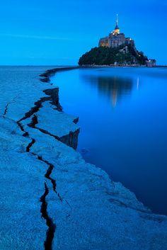 Blue Hour, Mont St Michel, France