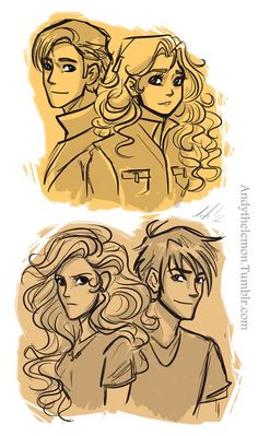 Percy and Annabeth then and now