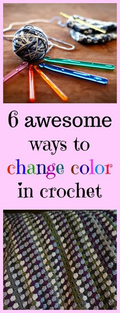 Crochet Stitches Patterns 6 awesome ways to change color in crochet - 6 awesome ways to change color in crochet Changing color in crochet can be so frustrating! You want your project to look nice as possible [. Crochet Diy, All Free Crochet, Crochet Crafts, Yarn Crafts, Crochet Projects, Sewing Projects, Crochet Tutorials, Sewing Tips, Scarf Crochet