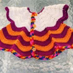 ce6b4442b0c8 Gilet Pétale Crochet Taille 3 À 6 Mois Petit Prix - Achat et vente. Fait  MainFaire ...