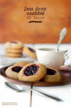 La tana del coniglio: Jam Drop Cookies al farro