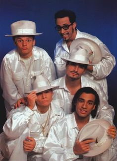 The satin suits / hats look | Community Post: 21 Legendary Photos To Celebrate The Backstreet Boys' 21st Anniversary