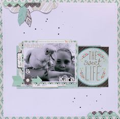 """""""The Sweet Life"""" By Anita Bownds Kaisercraft products – collectables – Stone – Fire – Heart – Kaisercolour Black – Pearls Snow – Alpha sticker sheet ivory Scrapbooking Layouts, Scrapbook Pages, Bow Arrows, Studio Calico, Hello Beautiful, Sweet Life, Love Is Sweet, Clear Stamps, Page Design"""