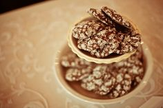 handmade cake stands and homemade chocolate crackle cookies