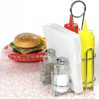 Retro Diner Tableware Set | American Diner Set with Straw Dispenser ...