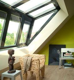 apartments in nice nice alternative, brings light! Attic Loft, Loft Room, Bedroom Loft, Bungalow Conversion, Attic Conversion, Attic Bedrooms, Dormer Windows, Attic Renovation, Cool Apartments