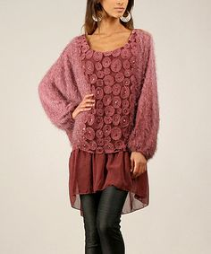 Look what I found on #zulily! Bordeaux Plush Layered Tunic by Un Coeur en Ete #zulilyfinds