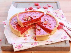 tarte a la praline rose French Desserts, No Cook Desserts, No Cook Meals, Delicious Desserts, Sweet Pie, Sweet Tarts, Praline Rose, Thermomix Desserts, Cooking Chef