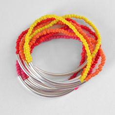 Noodle Bead Stacking Bracelets Tutorial - Dream a Little Bigger