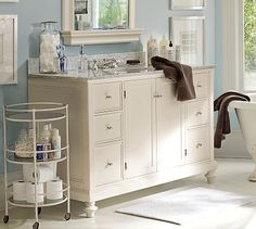 Would love something like this for when we get around to redoing the bathroom. So much storage!