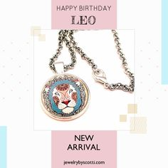 Art print pendant necklace for LEO. Shop now: https://www.etsy.com/listing/533889392 . Follow Jewelry by Scotti on Pinterest to be the first to see new products & sales. www.jewelrybyscotti.com #handmade #jewelry #OOAK #fashion #gifts