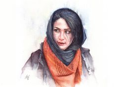 Portrait painted by Ali Naseri size: Watercolour Painting, Ali, Portrait, Instagram, Fashion, Moda, Headshot Photography, Fashion Styles, Ant