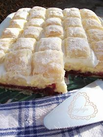 Hungarian Desserts, Hungarian Recipes, Sweet Recipes, Cake Recipes, Dessert Recipes, Bosnian Recipes, Frozen Puff Pastry, Salty Snacks, Special Recipes